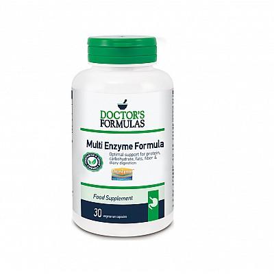 Doctor's Formulas Multi Enzyme Formula Διευκολύνει την Πέψη & Συμβάλλει στη Λειτουργία των Πεπτικών Ενζύμων, 30 caps