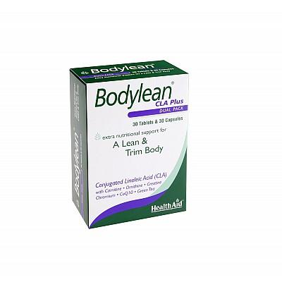 Health Aid Bodylean CLA Plus Διπλή αδυνατιστική σύνθεση 30 caps & 30 tablets