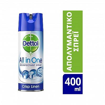 Dettol All-in-One Crisp Linen  Spray 400ml