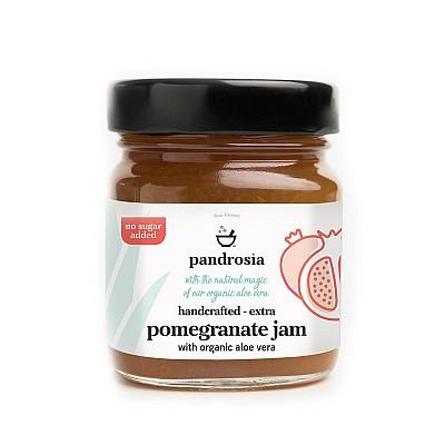 Pandrosia Extra pomegranate jam with organic aloe 240gr