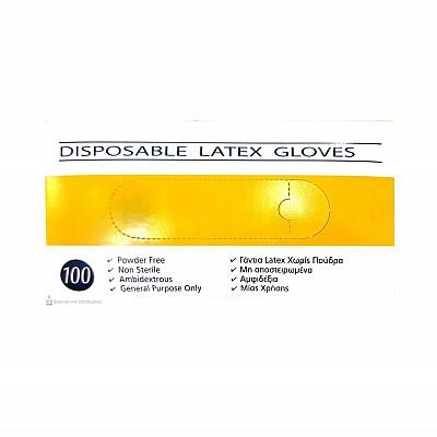 Latex Gloves Disposable Without Powder Medium 100pcs