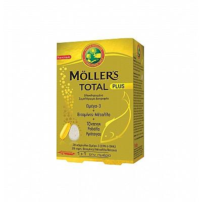 MOLLER'S Total Plus Συμπλήρωμα Διατροφής 28 Κάψουλες & 28 Ταμπλέτες