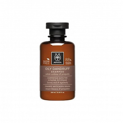 Apivita Oily Dandruff Shampoo with White Willow & Propolis, 250ml