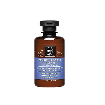 Apivita Sensitive Scalp Shampoo Σαμπουάν για το Ευαίσθητο Τριχωτό με Λεβάντα & Μέλι, 250ml