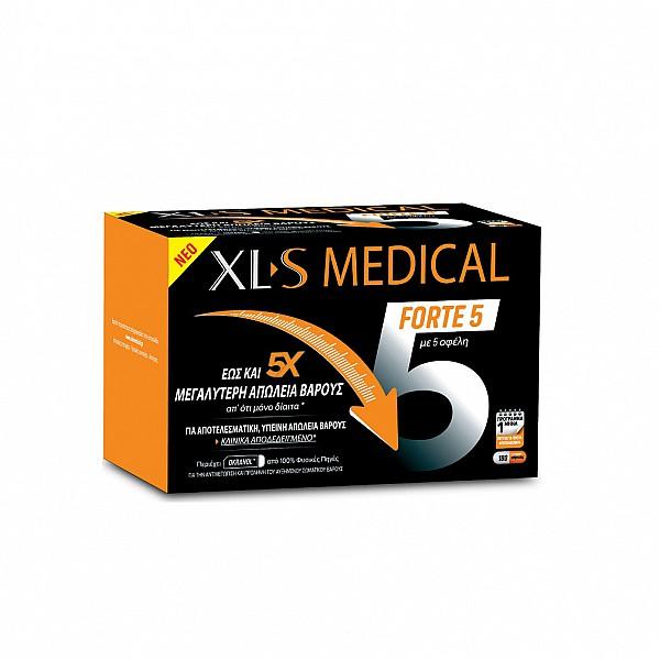 XLS Medical Forte 5 Συμπλήρωμα για Μεγαλύτερη Απώλεια Βάρους, 180caps
