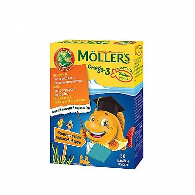 Moller's J3 Jellies for Children, Orange-Lemon flavor, 36 gummies