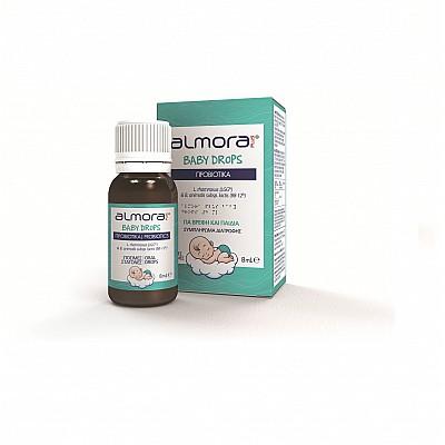 Elpen Almora Plus Baby Drops Βρεφικά Προβιοτικά 8ml