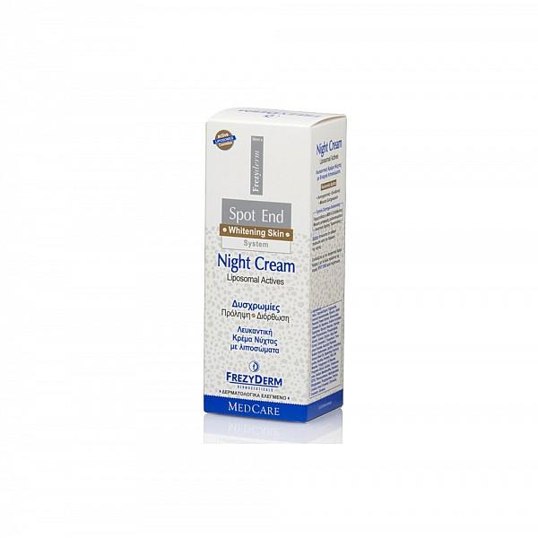 Frezyderm Spot-End Night Cream Κρέμα Νύχτας για Πανάδες Προσώπου, 50ml
