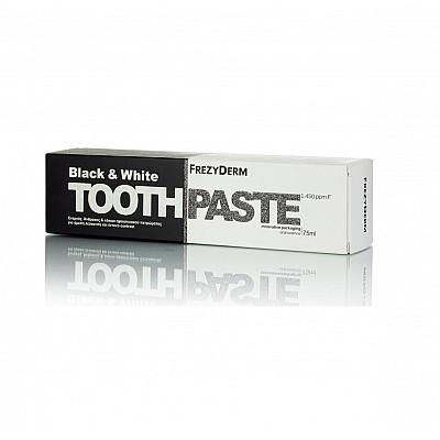 Frezyderm Black & White Toothaste, 75ml