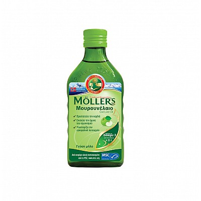 MOLLER'S Μουρουνέλαιο με Γεύση Μήλο 250ml