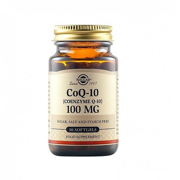Solgar CoQ-10 100mg Συμπλήρωμα διατροφής με αντιοξειδωτικές ιδιότητες 30 μαλακές κάψουλες