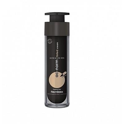 Frezyderm Ac-Norm Tinted Cream, Σμηγματορυθμιστική Κρέμα με Χρώμα, 50ml