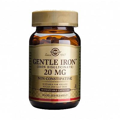 Solgar Gentle Iron 20mg,90caps