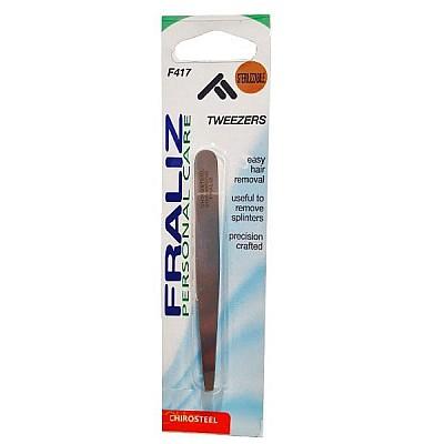 Fraliz Tweezers F417, Eyebrow Tweezer With Oblique Nose, 1 piece