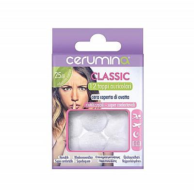 Cerumina Classic Earplugs with Waxed Cotton 12 pcs