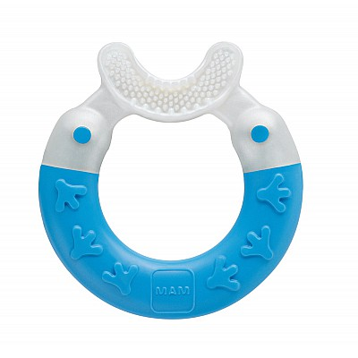Mam Bite & Brush Πολυκρίκος Καθαρισμού Δοντιών 3m+, 1 τεμάχιο, Μπλέ