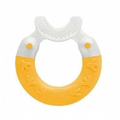 Mam Bite & Brush Πολυκρίκος Καθαρισμού Δοντιών 3m+, 1 τεμάχιο, Κίτρινο