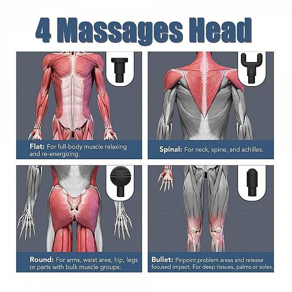 Muscle Massage Gun Πιστόλι Μασάζ - 26140, 1 τεμ