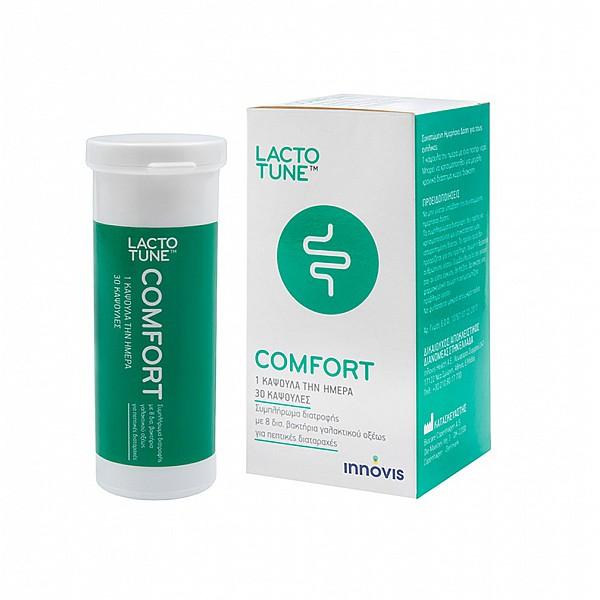 Lactotune Comfort Συμπλήρωμα Διατροφής Πρεβιοτικών - Προβιοτικών για την Υγεία του Πεπτικού, 30caps