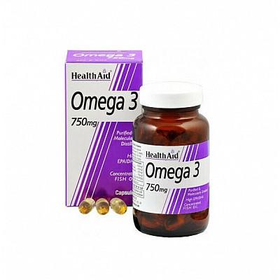 HealthAid Omega 3 750mg (EPA 425mg, DHA 325mg), 60 caps