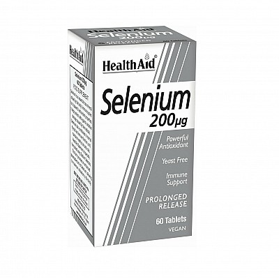 Health Aid Selenium 200μg Nutritional Supplement with Selenium for Antioxidant Protection, 60tabs