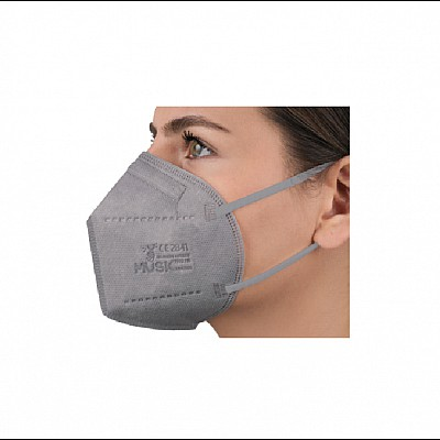 FFP2 NR Folding Mask 5 Layers Of High Protection MUSK grey, 1pcs