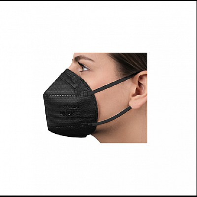 FFP2 NR Folding Mask 5 Layers Of High Protection MUSK Black, 1pcs