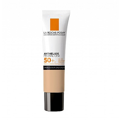 La Roche Posay Anthelios Mineral One Daily Cream SPF50+ Αντηλιακή Ενυδατική Κρέμα Προσώπου Με Χρώμα Medium 02, 30ml