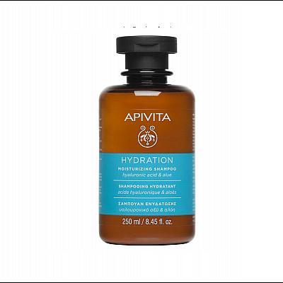Apivita Moisturizing Shampoo with Hyaluronic Acid, 250ml