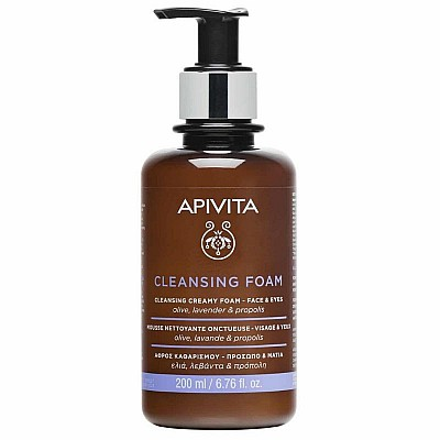 Apivita Cleansing Face & Eyes with Olive & Levander 200ml