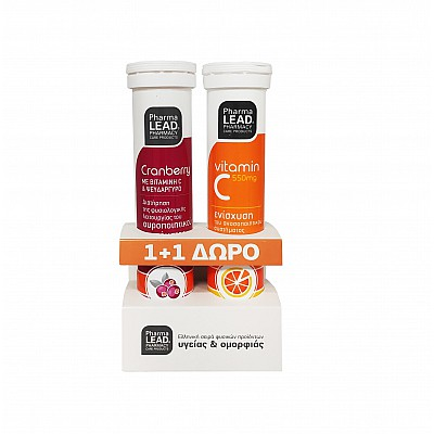 Vitorgan NutraLead Cranberry with Vitamin C & Zinc 20 effervescent tablets & Vitamin C 550mg 20 effervescent tablets