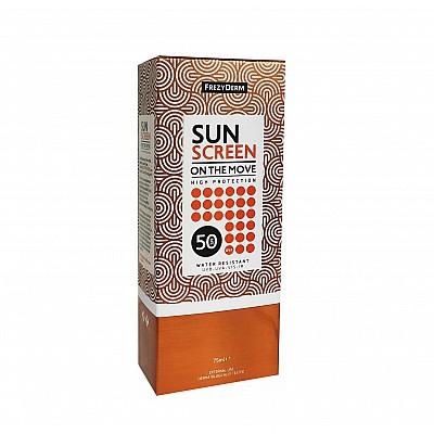 Frezyderm Sun Screen On The Move SPF50 Sunscreen Face Spray, 75ml
