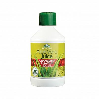 Optima Aloe Vera Juice with Cranberry, 500 ml
