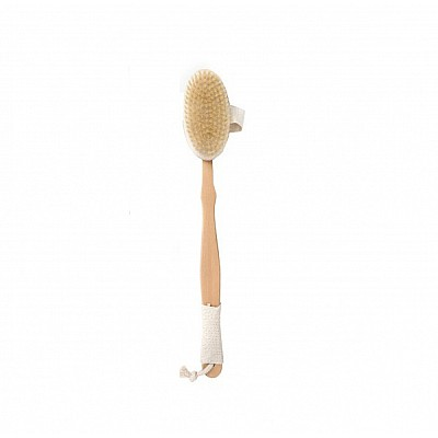RO-RO Wooden back brush with handle