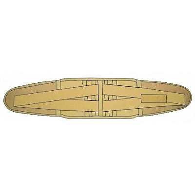 Adco Ζώνη Οσφύος Ενισχυμένη ''CrissCross'' Eλαστική (04415) με 4 μπανέλες και κλείσιμο με Velcro, 1 τεμάχιο
